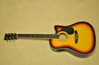 Sunburst Acoustic Electric Guitar - Like New, Barely Used