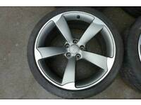 GENUINE AUDI ROTOR S-LINE A4 A5 S5 8T 8F 19' ALLOY WHEEL AND TYRE 255/35 R19
