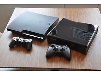 XBOX 360 CONSOLE + PS3 CONSOLE + GAMES