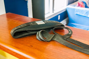 Atlas Weight belt and Harbinger rubberized lifting straps