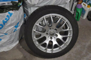 Snow Tires with Rims for a BMW 3 series XDrive - 225/50R17