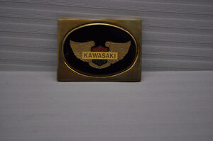 Another special find, NOS Kawasaki Solid Brass Belt Buckle
