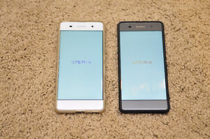 FS: Sony Xperia XA Cell Phones, white and black unlocked/bell