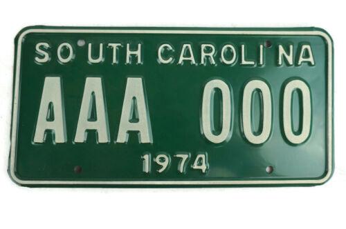 1974 South Carolina Sample License Plate AAA 000 MINT