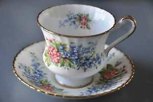 "Paragon ""Forget Me Nots"" teacup and saucer"