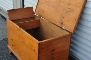 Vintage toy box/blanket box/firewood box