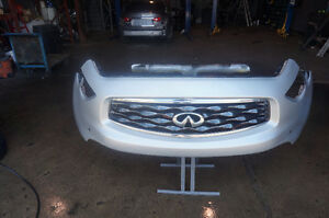 INFINITI 09-11 FX35 FX50 FRONT BUMBER WITH GRILL AND CAMERA GRAY