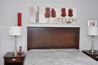 Headboard and 2 night table