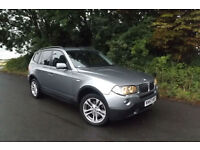 2007 57 BMW X3 2.0d SE DIESEL 4X4 88K FSH FULL LEATHER SAT NAV PROFESSIONAL CD