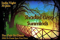 Spectacle Gratuit Indie Rock avec Sunminds, Shaded Gray(USA)