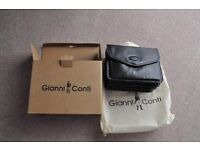 New Gianni Conti fine leather navy Italian cross body shoulder handbag satchel MOTHER'S DAY GIFT