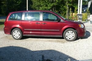 2016 Dodge Grand Caravan red Minivan, Van