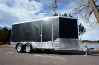 Deluxe Aluminum 7 X 17 Enclosed Cargo Motorcycle Trailer: Trim,