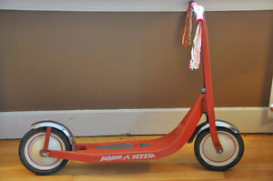 VINTAGE 1980'S 'RETRO RED' RADIO-FLYER....SCOOTER