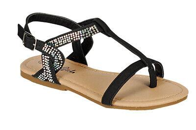 New Flower Girl Wedding Toddler Rhinestone Buckle Summer Sandals Strap 5-10 - Flower Girl Sandals
