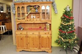 Xmas SALE NOW ON!! Pine Dresser With Cupboards, Drawers & Shelves - Can Deliver For £19