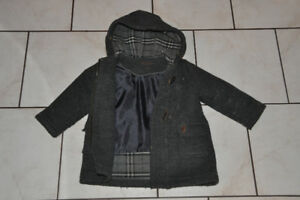 Boys wool peacoat with toggle closure