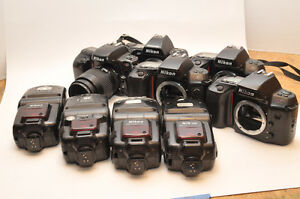 NIKON N50 N70 F-801 SB25 SB26 CAMERA/FLASH LOT AS-IS