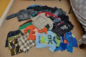 Big lot of boy clothes with fall jacket 4T