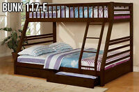 Single Over Double Bunk Beds – FREE STORAGE DRAWERS (Bunk 117)
