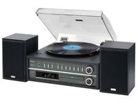 TEAC MC-D800 all-in-one (turntable/CD/radio/Bluetooth/USB) with speakers brand new in box