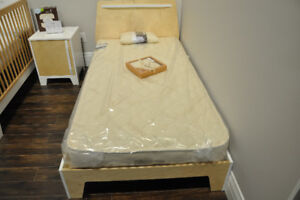 Single bed - Dutailier - Caramel
