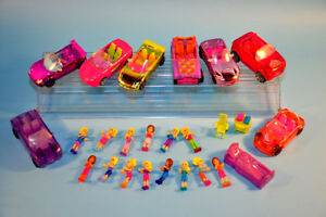 big Lot Polly Pocket Cars  Vehicles Dolls Figures Mini People