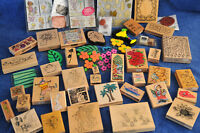 **Awesome Deal**  50+ Rubber Stamps for Scrapbooking/Card Making