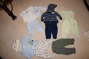 newborn and 0-3 mo. boy and gender neutral clothes