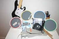 Rock Band pour WII  (Ensemble Complet + Rock Band 2)
