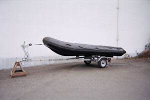 16.5 Foot Soft Bottom Inflatable Rubber Boat For Sale