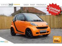 Smart Car Fortwo Coupe NIGHT ORANGE LIMITED EDITION SAT LEATHER AUTO PADDLE SHIF