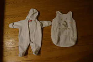 0-6 mo. light snowsuit and carseat bag