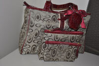 NEW Purse and 3 extra matching accessory bags to match