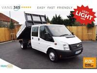 Ford Transit ONLY 51K MILES 125 BHP FACTORY ALLOY ONE STOP D/C TIPPER 350 DRW