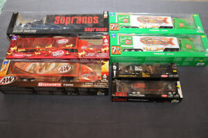 Die Cast tractor trailers and assorted toys