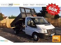 Ford Transit NO VAT66K MILES 125 BHP 6 SPEED ONE STOP ALLOY SINGLE CAB TIPPER 35