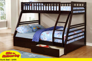 MIKE'S GOT THESE SOLID WOOD BUNKBEDS WITH DRAWERS JUST $499