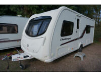 2011 SWIFT CHALLENGER 570 4 BERTH CARAVAN - FIXED BED - END WASHROOM - LOVELY