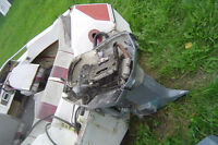 PARTING OUT 1988 EVINRUDE 110 HP POWER TRIM/TILT BOTTOM END
