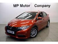 2014 14 HONDA CIVIC 1.8 I-VTEC S 5D 140 BHP 5DR 5SP AUTO HATCH, RED, 10,000M,