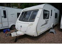 SWIFT SAFARI 550 4 BERTH FIXED BED CARAVAN - REAR WASHROOM - MOVER