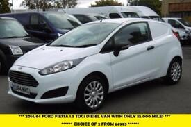 2014 FORD FIESTA 1.5 TDCI CAR DERIVED VAN WITH ONLY 35000 MILES ***** AWAITING M