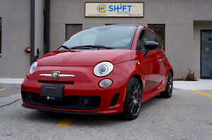 2013 FIAT 500C ABARTH CABRIOLET, HEATED ROSSO LEATHER SEATS