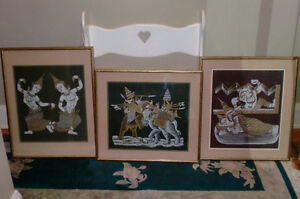 TRADITIONAL THAI ELEPHANT ICON FRAMED ART PICTURES