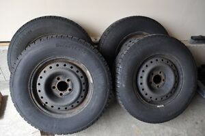 winter slalom tires with rims for sale