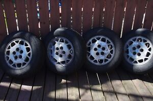 Set of wimter tires on alloy wheels