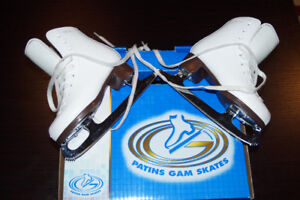Girl Ice GAM Skates-Patins à Glace Filles GAM-Taille 12, 6-7 ans