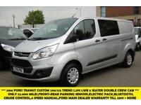 2016 FORD TRANSIT CUSTOM 290/125 TREND L2H1 LWB 6 SEATER COMBI DOUBLE CREW CAB V