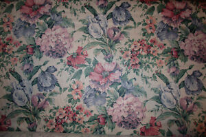 floral fabric, off-white/pastel colours